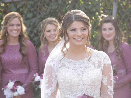 Tori Bates on her wedding day at Knoxville's Calvary
