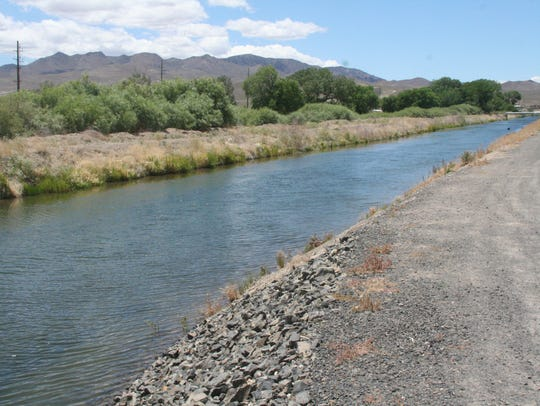 The Truckee Canal is shown along Canal Drive in Fernley.