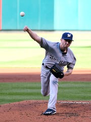 Milwaukee Brewers starting pitcher Zach Davies picked