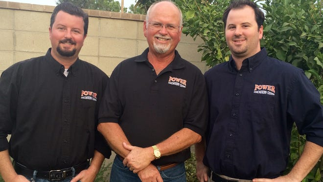From left are Scott Power, Rick Power and Mike Power of of Power Machinery Center.