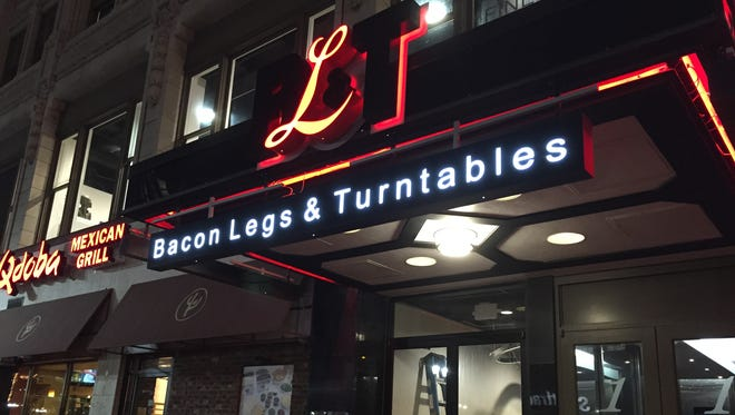 The 147-seat Bacon Legs & Turntables, or BL&T, is at 1 N. Meridian St., between Jimmy John's and Qdoba Mexican Grill.