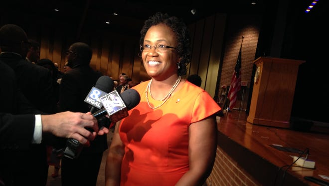 York Mayor Bracey, seen in this April file photo from her State of the City address, is continuing her advocacy against gun violence, this time in support of Wear Orange, a national movement.