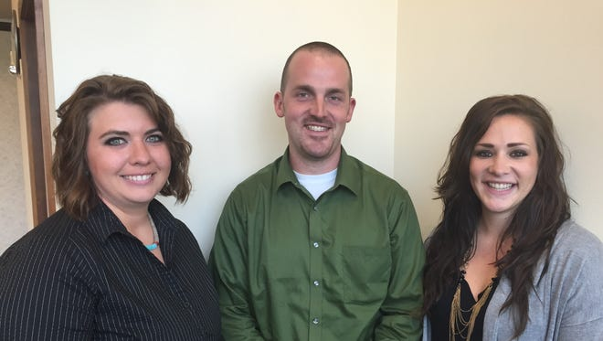 Julie Wadzinski of Barron County (from left) Charlie Oberhaus of Waukesha County and Tammy Wiedenbeck of Grant County have been appointed to the Wisconsin Farm Bureau's Young Farmer and Agriculturist (YFA) Committee.