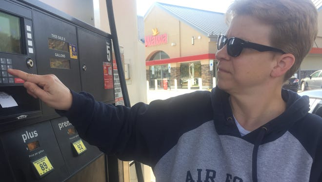 Erin Langford of New Castle fills up at Wawa on Wednesday, two days after a pipeline explosion in Alabama threatened to impact gasoline supplies for the East Coast.