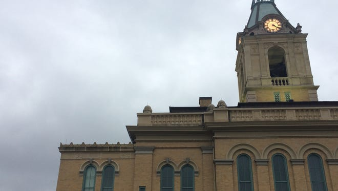 Skies over the Robertson County Courthouse.
