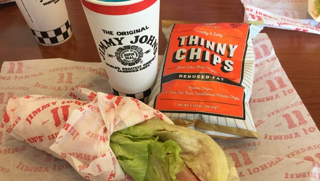 """Jimmy John's will turn any of its subs into an """"unwich,"""" or lettuce wrap."""