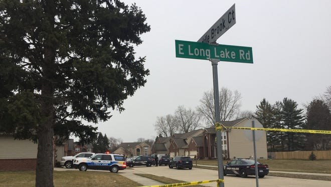 Troy Police were involved in a shooting Monday, April 9, in the 4900 block of Saddle Brook Ct.