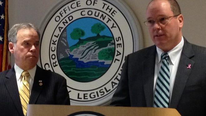(file photo) Rockland County Executive Ed Day (left) and Legislator Cris Carey (right)