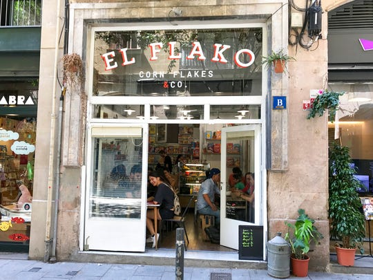 The El Flako cereal cafe in Barcelona, Spain is one of many cereal cafes that  have spread around Europe as young professionals tap into a yearning for nostalgia and novelty with blends of sugary American and foreign cereals