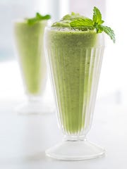 The Minty Melon smoothie features healthy greens such as cucumber and kale.