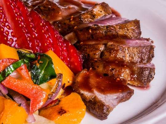 The Soule Domain has been open for more than 30 years in North Lake Tahoe, showcasing dishes like Maple Leaf Farms duck breast with orange, strawberries and Grand Marnier sauce.