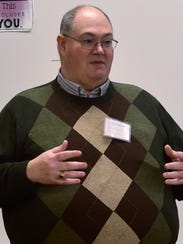 Clifford Smith, of Conococheague Institute speaks to