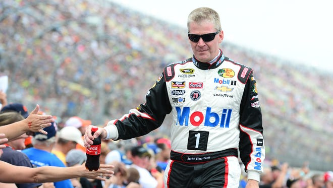 Jeff Burton substituted for Tony Stewart in the No. 14 Stewart-Haas Racing Chevrolet Sunday at Michigan.
