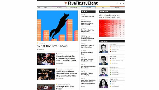 FiveThirtyEight launches Monday, promising data-driven stories and podcasts.