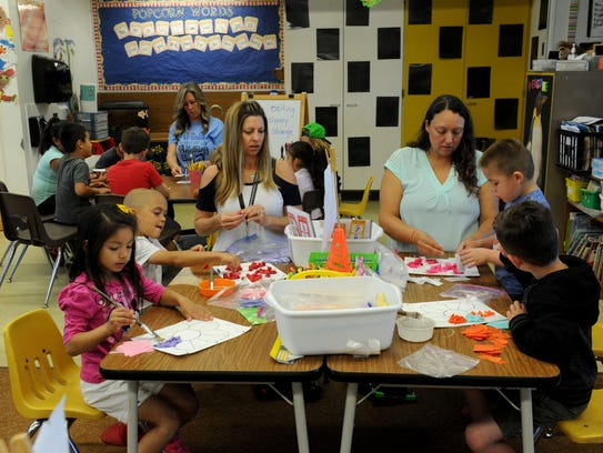 Maple School students participate in activities during