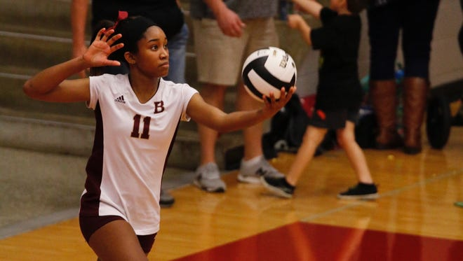 Talia Trabue leads Brebeuf volleyball in aces this season.