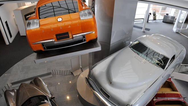The Walter P. Chrysler Museum will have rotating exhibits drawn from its garage of more than 300 vehicles such as the 2002 Dodge Razor, top.
