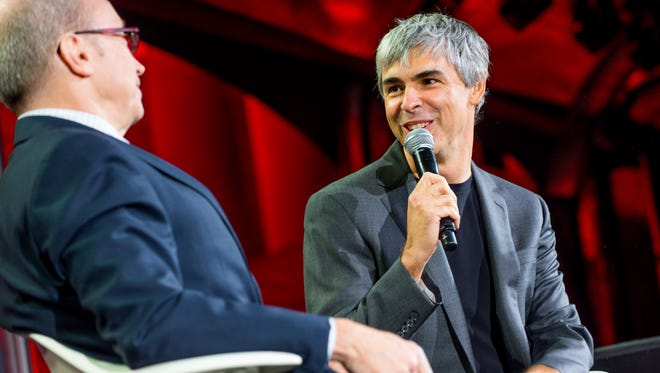 Larry Page speaks at the Fortune Global Forum.