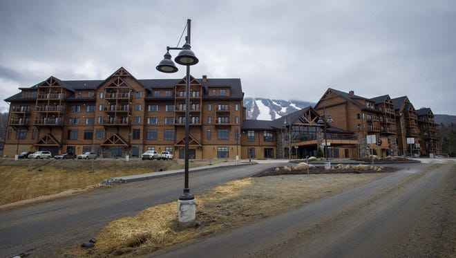 The Q Burke Resort in East Burke sits completed but unopened earlier this year.