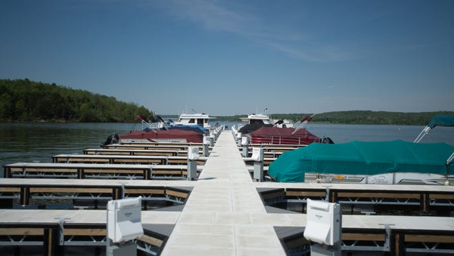 A new dock at Brookville Lake is seen Monday, May 15, 2017.