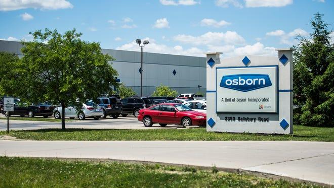 The sign for Osborn International is seen along Salisbury Road on Tuesday, June 6, 2017.