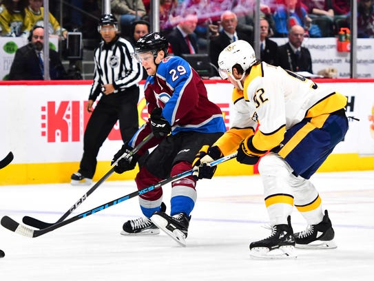 Avalanche forward Nathan MacKinnon is among the leading