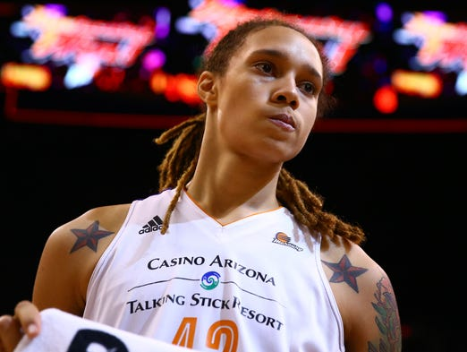 Brittney Griner emerged as a full-fledged WNBA star during her second season with the Phoenix Mercury in 2014. Flip through the gallery for a look at Griner's basketball career.