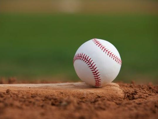 stock-baseball on mound-166639455