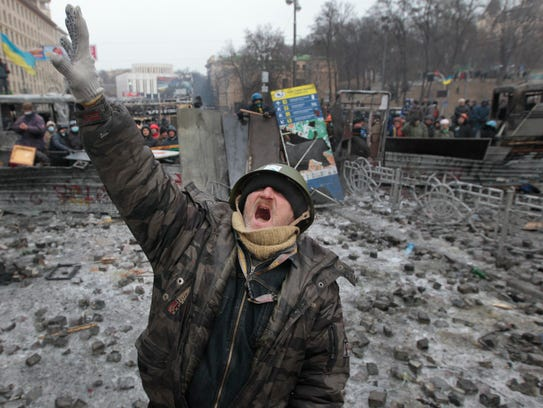 AP Ukraine Protest Photo Gallery