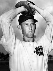 Cincinnati Reds right-hander Ewell Blackwell needed only 96 pitches to throw a no-hitter against the Boston Braves before a crowd of 18,137 fans at Crosley Field on June 18, 1947.