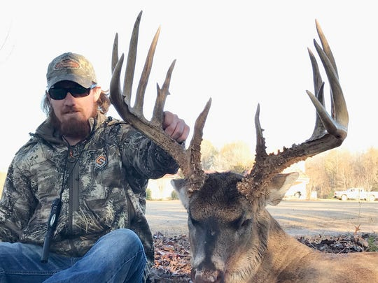 Josh Clark's Canemount Wildlife Management Area buck gross-scored almost 199 inches.