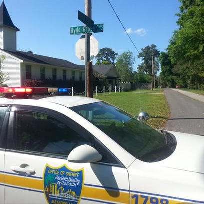 A photo of the intersection JSO shut down during the