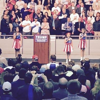 USA Freedom Girls sing the National Anthem at @realDonaldTrump