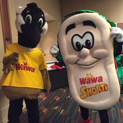 Wawa mascots Wally the Canadian goose and Shorti the