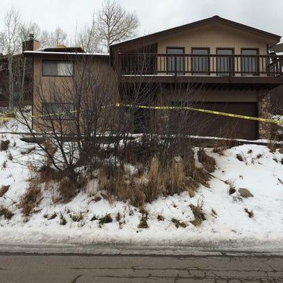 Crime scene tape at Stockdale's house.