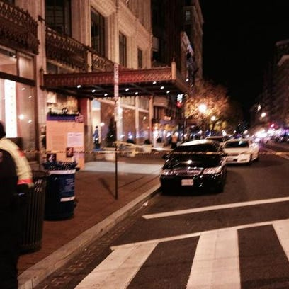 The scene of a shooting in Chinatown.