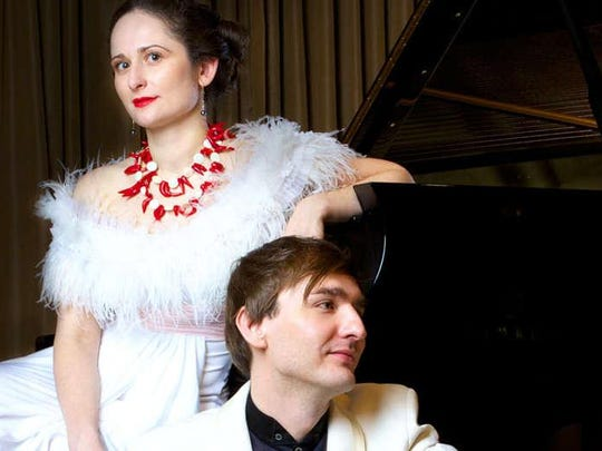 Pianists Vassily Primakov and Natalia Lovrova double up on the keyboards when The Artist Series wraps up its season with a concert at 4 p.m. Sunday in Opperman Music Hall. The program features works by Brahms, Scriabin, Ravel and Suite No. 2, Op. 17 by Rachmaninov. Tickets are $23 general public. Visit www.theartistseries.com.
