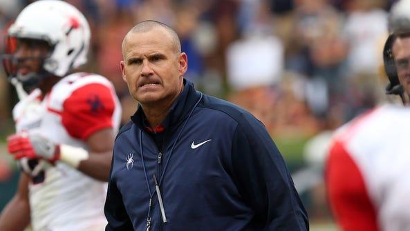 Richmond head coach Danny Rocco in September.