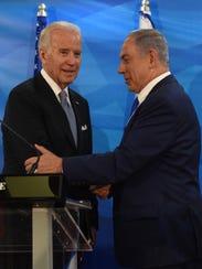 Vice President Joe Biden and Israeli Prime Minister