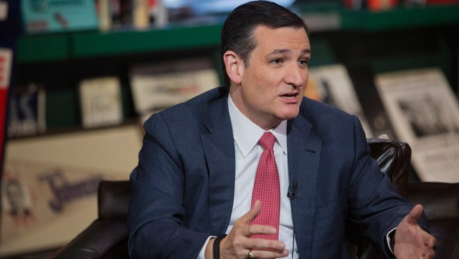 Sen. Ted Cruz, R-Texas, speaks about his presidential bid Wednesday on Bloomberg Television.