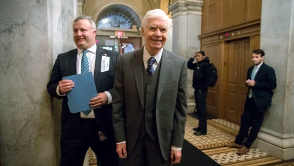 In this Jan. 10, 2018, file photo,  Sen. Thad Cochran,