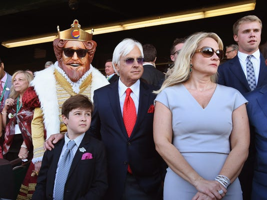 Trainer Bob Baffert And Burger King At The 147th Belmont Stakes