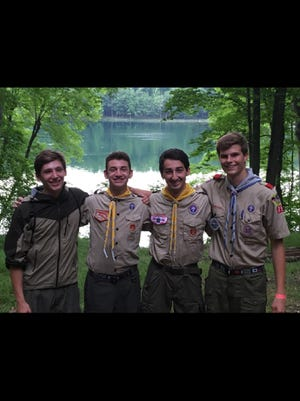 New Eagle Scouts Alex Braeseker, Conrad Landis, Joseph McCormick and Drew Lemke were honored at Troop 755's most recent Eagle Court of Honor.