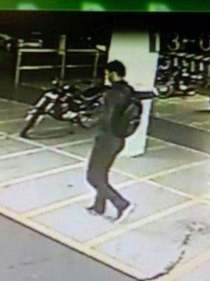 Police say this is serial killer Gomes da Rocha in this image captured on CCTV.