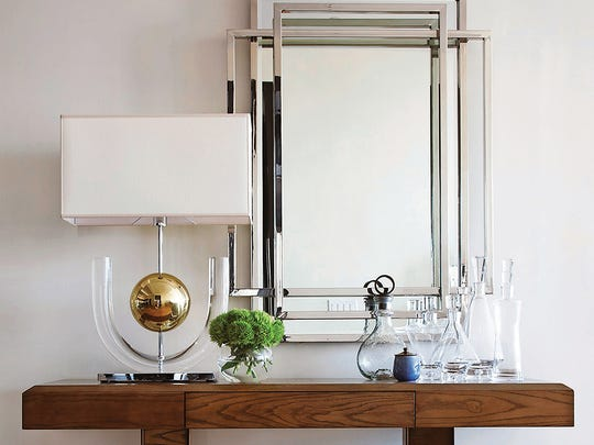 A foyer table is a perfect setting for the display