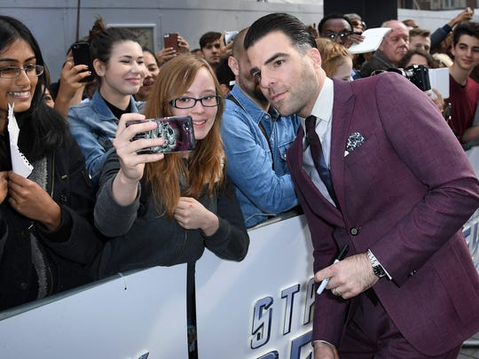 Zachary Quinto attends the UK Premiere of Paramount