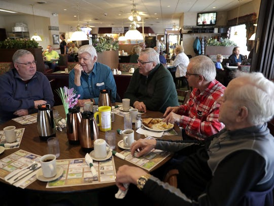 Martha's Coffee Club, founded in 1947, has been meeting every week at Bay Family Restaurant in Green Bay since the 1980s.