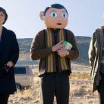 "Maggie Gyllenhaal, Michael Fassbender and Domhnall Gleeson star in ""Frank."""