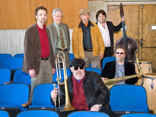 Rick Davies, front, led the group Jazzismo that also included saxophone player Alex Stewart (seated, second row).