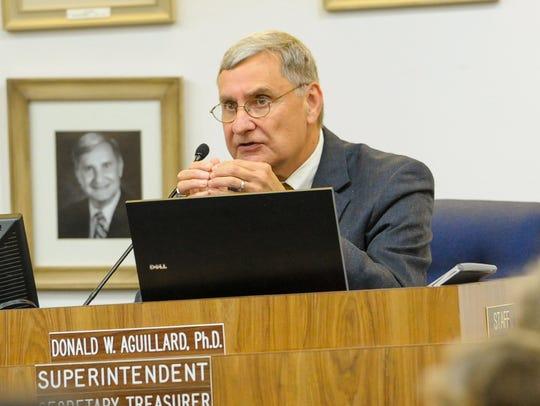 Lafayette Parish Superintendent Donald Aguillard speaks